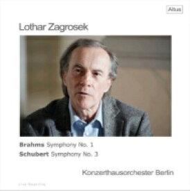 【送料無料】 Brahms ブラームス / ローター・ツァグロゼク、ベルリン・コンツェルトハウス管弦楽団 / シューベルト:交響曲第3番、ブラームス:交響曲第1番 (2枚組アナログレコード) 【LP】