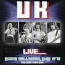 【送料無料】 UK ユーケー / Live... Agora Ballroom, Ohio 1978 輸入盤 【CD】