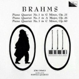 【送料無料】 Brahms ブラームス / ピアノ四重奏曲第1番、第2番、第3番 イェルク・デムス、バリリ四重奏団員(2CD) 【Hi Quality CD】
