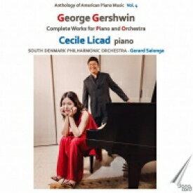 【送料無料】 Gershwin ガーシュウィン / ラプソディ・イン・ブルー、セカンド・ラプソディ、ピアノ協奏曲、『アイ・ガット・リズム』変奏曲 セシル・リカド、ジェラルド・サロンガ&南デンマーク・フィル 輸入盤 【CD】