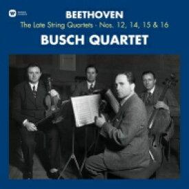 Beethoven ベートーヴェン / 後期弦楽四重奏曲集 第12番、第14番、第15番、第16番 ブッシュ四重奏団 (3枚組アナログレコード / Warner Classics) 【LP】