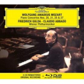 【送料無料】 Mozart モーツァルト / ピアノ協奏曲第20番、第21番、第25番、第27番 フリードリヒ・グルダ、クラウディオ・アバド&ウィーン・フィル(2CD+ブルーレイ・オーディオ) 輸入盤 【CD】