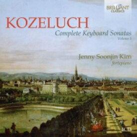【送料無料】 コジェルフ(1747-1818) / 鍵盤楽器のためのソナタ 第3集 キム・ジェニー・ソジン(フォルテピアノ)(4CD) 輸入盤 【CD】