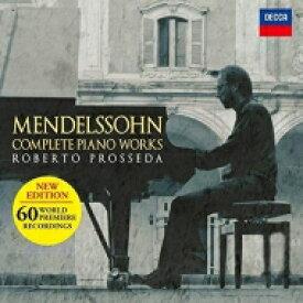 【送料無料】 Mendelssohn メンデルスゾーン / ピアノ曲全集(新編集盤) ロベルト・プロッセダ(10CD) 輸入盤 【CD】