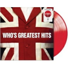 【送料無料】 The Who フー / Who's Greatest Hits (レッドヴァイナル仕様 / アナログレコード) 【LP】