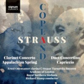 【送料無料】 Strauss, R. シュトラウス / R.シュトラウス:二重小協奏曲、コープランド:クラリネット協奏曲、他 エルンスト・オッテンザマー、シュテパン・トゥルノフスキー、アカデミー・オブ・ロンドン、他 輸入盤 【CD】