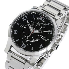 85782124e5 モンブラン タイムウォーカー クロノ 自動巻き メンズ 腕時計 104286 ブラック