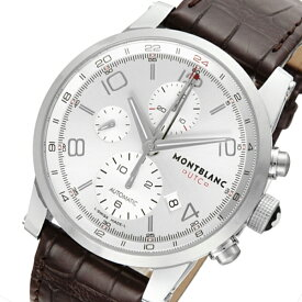 f5d2acbd20 モンブラン タイムウォーカー クロノ 自動巻き メンズ 腕時計 107065 シルバー