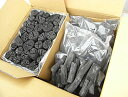 バーベキュー・火鉢・囲炉裏・燃料用 木炭黒炭&白炭 バリューセット椚黒炭3kg+備長炭白炭3kg 合計6kg