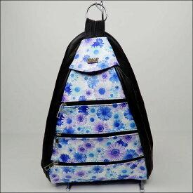 OZAY LEATHER オザイレザー 本革2WAYバック 紫の花柄 リュック ボディバック トルコ製