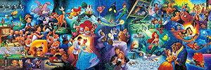 ジグソーパズル ディズニーキャラクター名場面集 ぎゅっと456ピース (18.5x55.5cm)