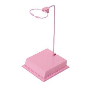 プレミアムパーツコレクション ミニMSスタンド ポップピンク ミニキャラクタープラモデル用 W75×D75mm プラスチック製 PPC-K07 ディスプレイスタンド