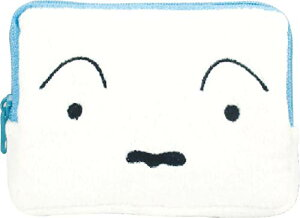 ティーズファクトリー スクエアフェイスポーチ クレヨンしんちゃん/シロ 11.5×8.5×2cm KS-5533233SI