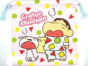ティーズファクトリー フラット巾着 クレヨンしんちゃん/パジャマ 20×20×0.5cm KS-5530077PJ