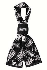 丸眞 リストバンド付き マフラータオル Marvel マーベル ロゴ マフラータオル:12×100cm・リストバンドH8×W8cm スプレッドロゴ 2505012700