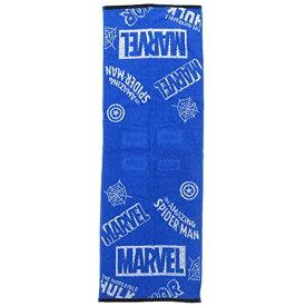 MARVEL[フェイスタオル]ジャガードロングタオル/チラシ ブルー マーベル
