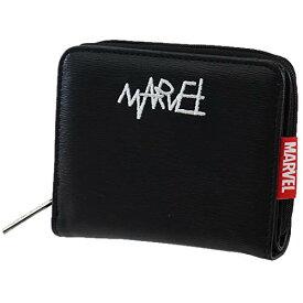 マーベル[二つ折り財布]コンパクト ウォレット/ストリート風刺繍ロゴ MARVEL