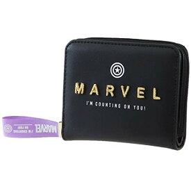 マーベル[二つ折り財布]コンパクト ウォレット/マーク刺繍ロゴ MARVEL