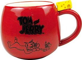 ティーズファクトリー トム&ジェリー フィギュア付きマグ レッド H8.3×Φ9.3cm TJ-5524412RD