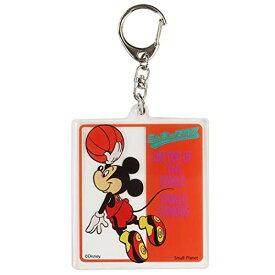 ミッキーマウス[アクリル キーホルダー]キーリング/バスケットボール ディズニー APDS4935