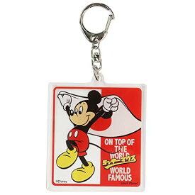 ミッキーマウス[アクリルキーホルダー]キーリング/フラッグ ディズニー APDS4937