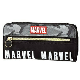 【MARVEL/マーベル】迷彩ファスナー付き長財布(BK)49941