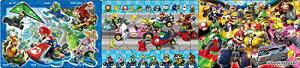 18+24+32ピース 子供向けパズル マリオカート 【ステップパノラマパズル】