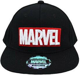 [マーベル]Marvel BBキャップ 立体刺繍 オーロラシール ツバ裏ロゴ コットン ブラック