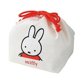 クツワ ミッフィー お弁当袋 ホワイト,イエロー H17×W27×D1(cm) miffy キッズランチシリーズ