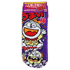 JGS0100/ジェイズプランニング/お菓子パッケージシリーズ/うまい棒/めんたい味/レディースソックス大人用22〜24cm