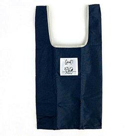 スヌーピー エコバッグ(抗菌)Sマチ広 NV テーブル スヌーピー 折りたたみバッグ 買い物袋 ネイビー