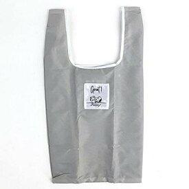 スヌーピー エコバッグ(抗菌)Sマチ広 GY テーブル 折りたたみバッグ コンパクトバッグ 買い物袋 グレー