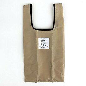 スヌーピー エコバッグ(抗菌)Sマチ広 BE テーブル 折りたたみバッグ 買い物袋 ベージュ