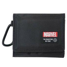 マーベル[三つ折り財布]コンパクトウォレット/スクエアロゴ MARVEL