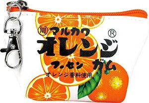 三角 ミニ ポーチ お菓子 シリーズ マルカワ フーセンガム オレンジ