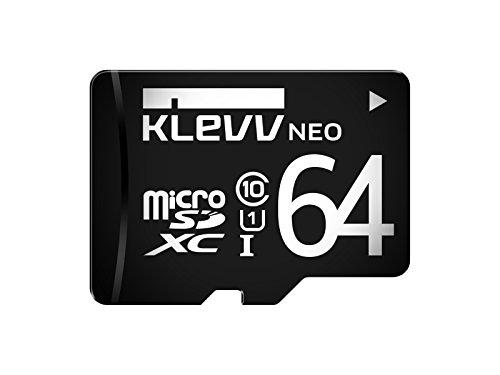 フラッシュカード Micro SD UHS1 Class10 64GB KLEVV(ESSENCORE) U064GUC1U18-D R=90MB/s W=22MB/s アダプタ無し 永久保証