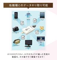 【超小型フルHDビデオカメラSQ81080P暗視赤外線動体検知】&【iPhone/iPad用ライトニング対応SDカードリーダー】