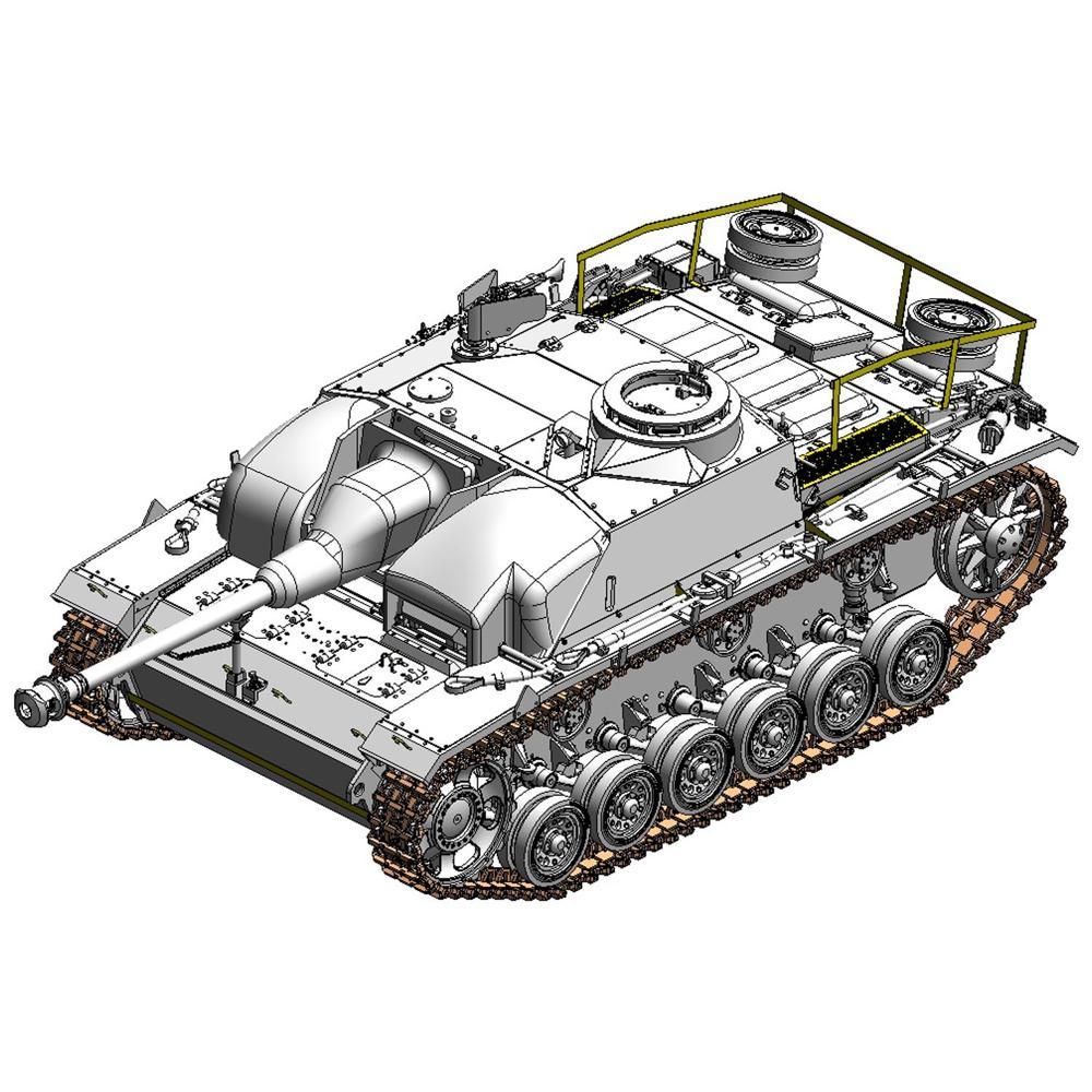 ドラゴン 1/35 WW.II ドイツIII号突撃砲G型 コンクリートアーマー w/ツィメリットコーティング(訳あり商品)