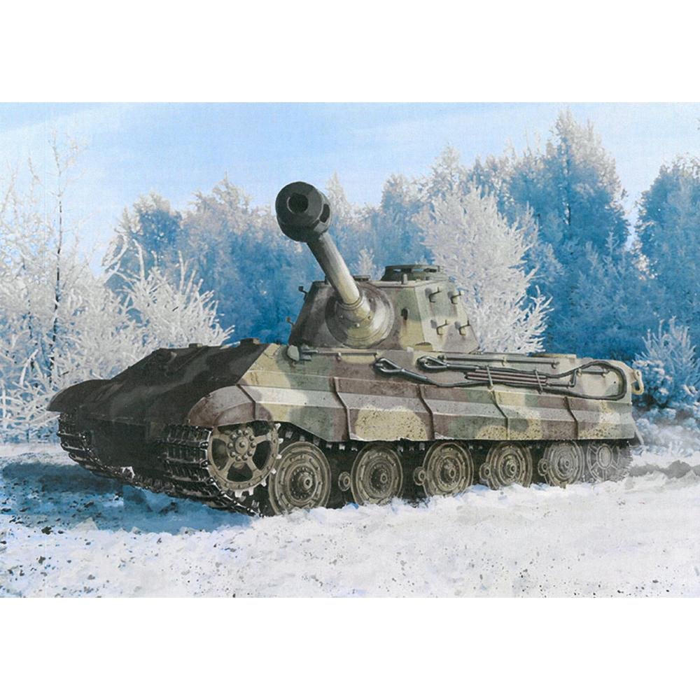 ドラゴン 1/35 WW.II ドイツ軍 キングタイガー 後期生産型 w/Kgs 73/800/152履帯 第506重戦車大隊 アルデンヌ 1944 DR6900(訳あり商品)