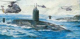 ドラゴン 1/700 潜水艦 H.M.S.リヴェンジ vs ソビエト ヴィクターIII