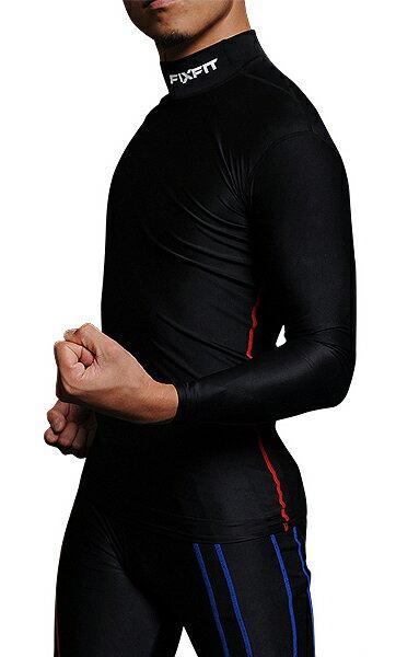 ★ダイエットのインナー 筋肉疲労を軽減 スポーツウェア FIXFIT MAX【品番:ACW-X03 ロング ハイネック】コンプレッション 加圧インナー サポート 長袖 メンズ レディース アンダーウェア 日本製 ヨガ トレーニング フィットネス 健康グッズ ロットNo:0316J