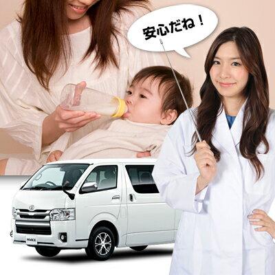 【車で授乳】哺乳瓶を使う時も人目を気にせずミルクをあげられる!車内は消毒も安心!ベビー服の着替え 離乳食の食事 おむつ交換 おしりふき ねんねにも活躍!高品質 日本製 ハイエース200系 S-GL DX標準ボディー5ドア カーテン不要 遮光防水プライバシーサンシェード リア用