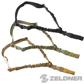 ZELDNER (ゼルドナー) スリングベルト サバゲー シングルポイント バンジーコード タクティカルスリング バンジースリング 全3色:BK/OD/TAN 【全国一律 送料無料】