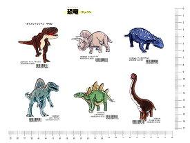 大人気 恐竜 アイロン接着ワッペン