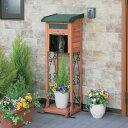 ガーデンメールボックスGMB-121Fブラウン/グリーン