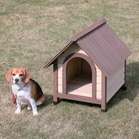 中型犬向き耐候性、耐久性に優れています!ウッディ犬舎 WDK-600 ブラウン[アイリスオーヤマ、ペット用品、小屋、ハウス] [cpir] iriscoupon