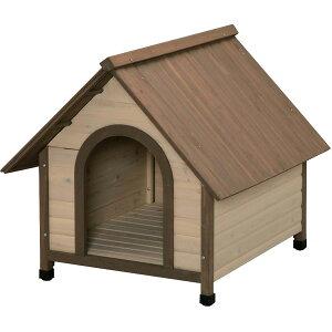 ウッディ犬舎 WDK-900 ブラウン[ペット・犬イヌわんこ屋外用・木製犬小屋/アイリスオーヤマ]