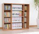 スライドボックス SBO-8590 コミック本がたっぷり収納できる本棚幅約89×奥行約33.5×高さ約85.4cm小説 文庫本 新書 マンガブックシェルフ らく...