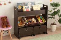 玩具箱えほん収納棚玩具箱収納収納玩具箱収納カート付トイハウスラック