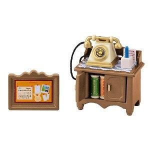 シルバニアファミリー カ-501 電話台セットエポック シルバニア ドールハウス 動物 知育玩具 ままごと お人形遊び 女の子向け 着せ替え 【TC】